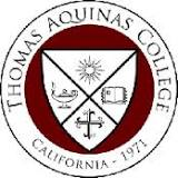 Thomas Aquinas College logo.