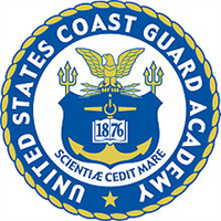 United States Coast Guard Academy logo.