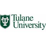 Tulane University of Louisiana logo in white background.