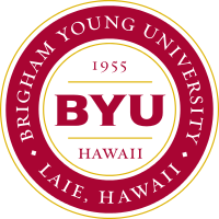 Brigham Young University - Hawaii logo.