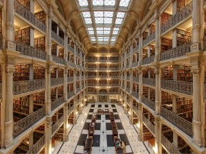 of the most amazing college libraries in the us college raptor george peabody library