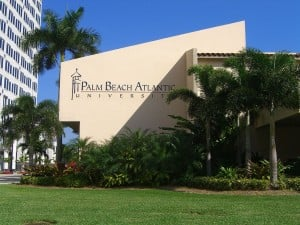 Photograph of the Lassiter Student Center at the Palm Beach Atlantic University campus, one of many college campuses on the beach.