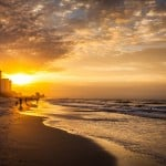 Photograph of a sunset at Myrtle Beach, SC.
