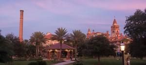Flagler College is one of many college campuses on the beach