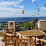 Pepperdine University Waves Cafe with a beautiful ocean view.