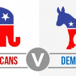 Republicans Vs Democrats banner.