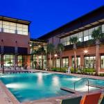 Beautiful swimming pool in Rice University.