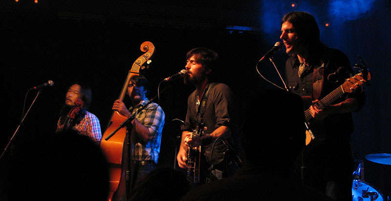 The Avett Brothers playing live in Portland. Source: Flickr user jcolman