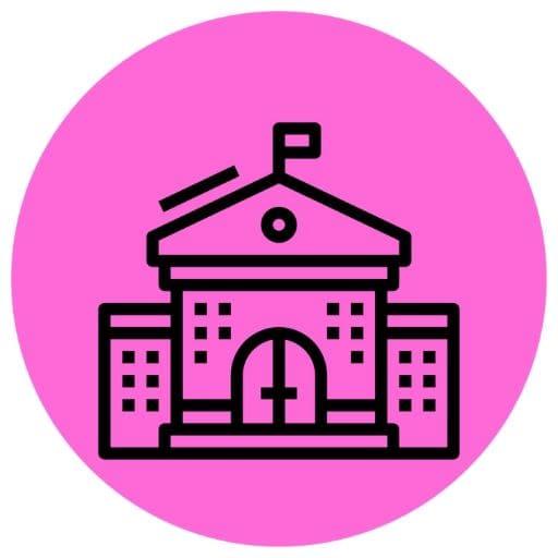 Purple college icon