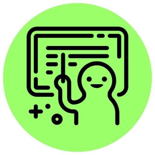 Green teacher icon