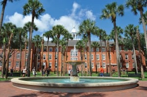 Fountain on the Stetson University campus.