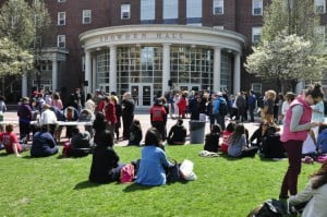 Johnson and Wales University Providence is one of many pet-friendly college campuses