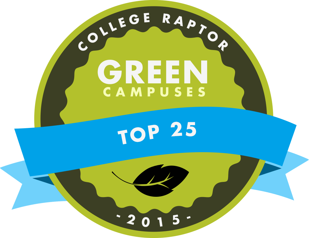 Check out the 25 greenest college campuses in the US.