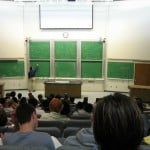 Photograph of a college lecture