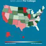 Ever wonder which US states students flock to go to college?