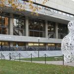 Alchemist statue, by Jaume Plensa, at MIT Campus.