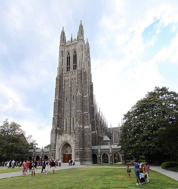 Duke University church building.