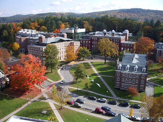 Aerial view of the Sherman Fairchild Sciences complex at Dartmouth College.
