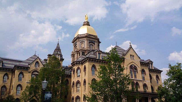 Golden Dome at the University of Notre Dame.