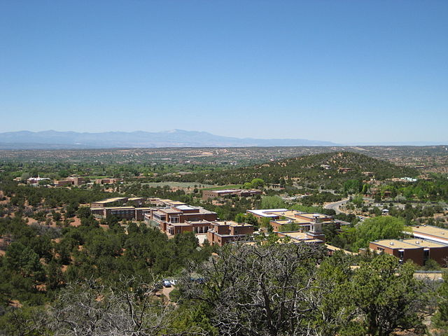 St. John's College Santa Fe Campus from the slopes of Monte Luna.