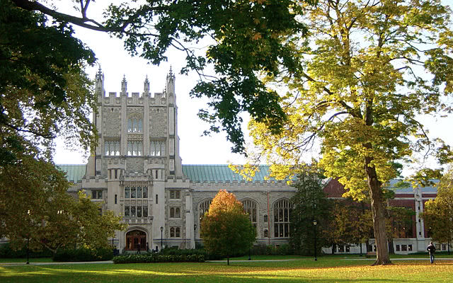 Thompson Library at Vassar College in Poughkeepsie.