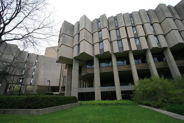 Northwestern University library building.