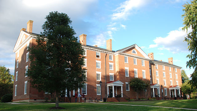 Cushing Hall at Hampden–Sydney College.