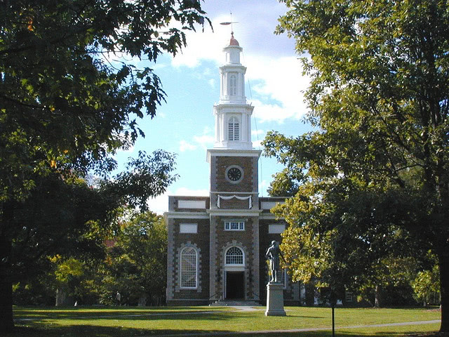 A chapel building on the Hamilton College campus.