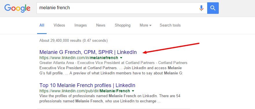 Make a LinkedIn that will pop up when you search for yourself to optimize your personal SEO results.