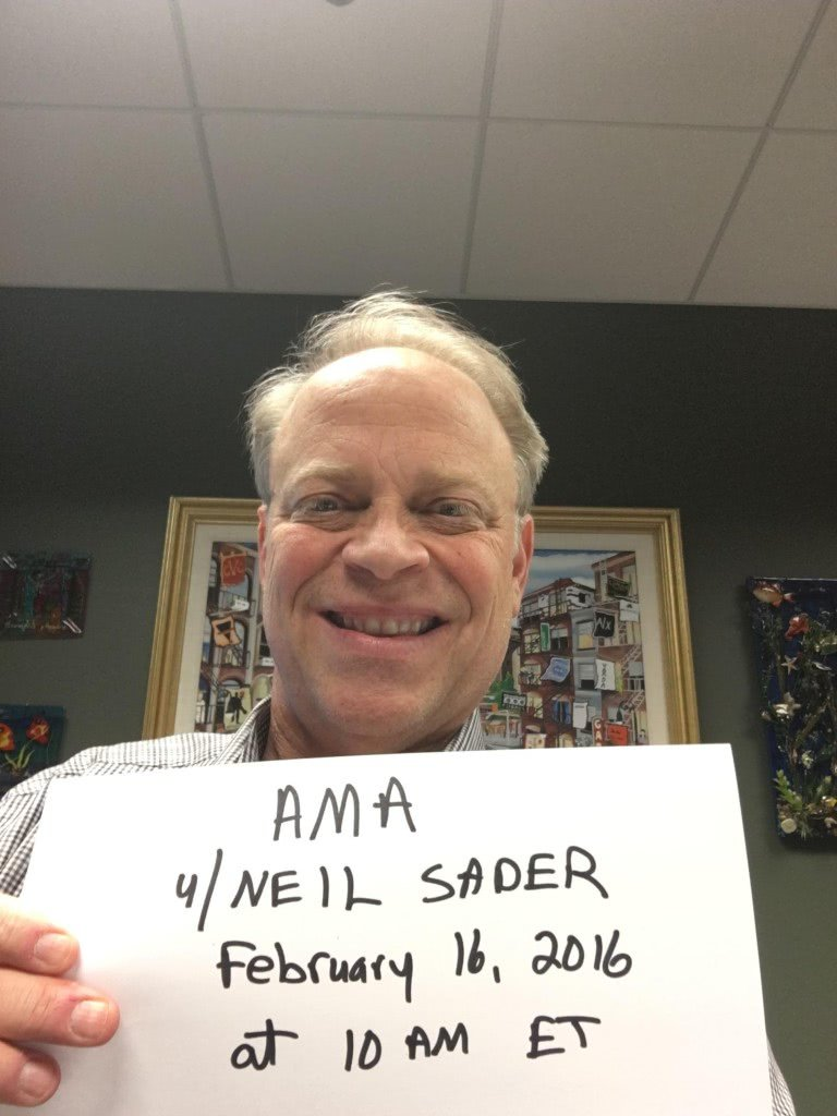 "Neil Sader did an ""ask my anything"" on Reddit."