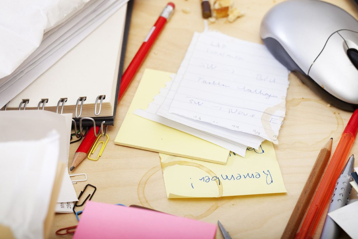 Declutter your space before your study session