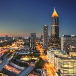 Downtown Atlanta City at night.