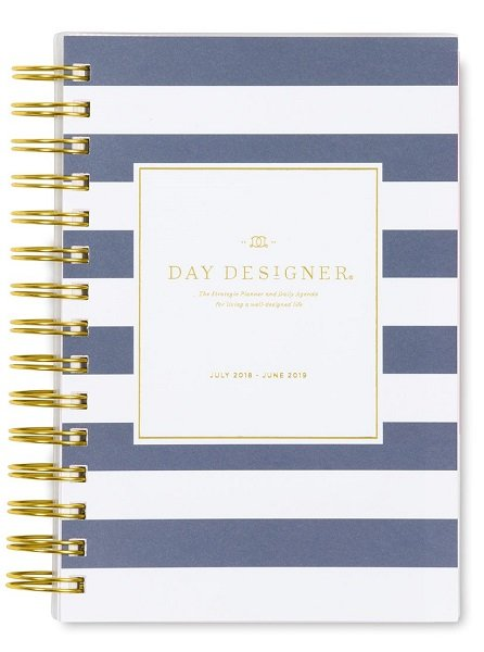 A Blue Sky academic planner with navy stripe design. Click to view its Amazon page.