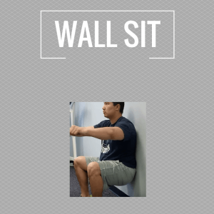 Exercises - wall sit