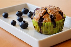 Microwave recipes - blueberry mug muffin