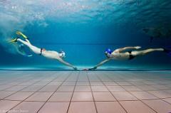 Unique sports - underwater hockey