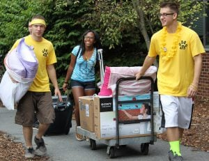 You're at your dorm room and ready to move in!