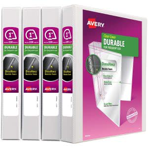 Avery durable white binder to keep class materials in. Click to view its Amazon page.