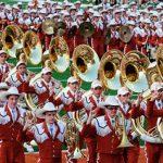 Longhorn Marching Band at Texas Memorial Stadium.
