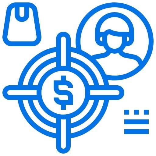 Blue niche icon