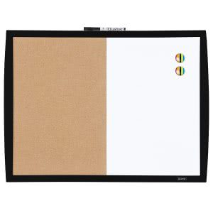 Dry erase magnetic cork board by Quartet. Click to view its Amazon page.