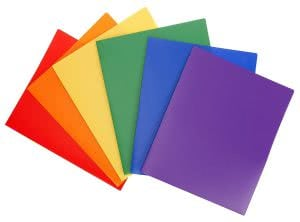 STEMSFX heavy duty pocket folder in assorted colors. Click to view its Amazon page.