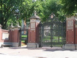 A gate at Brown University - Best Colleges in the Northeast