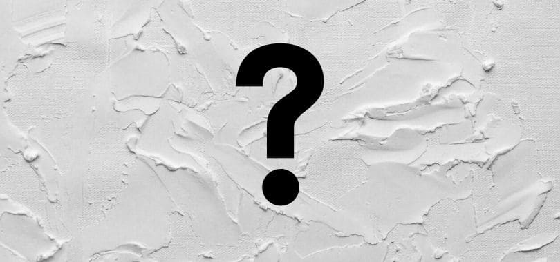 A question mark against a white background.