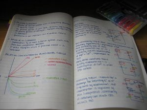 Color code your notes if you're a visual learner.