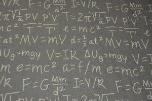 blackboard with math formulas