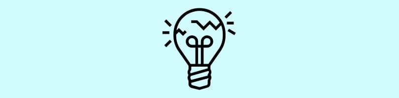 Broken lightbulb icon