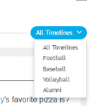 A new social media feature addition is our sports timelines