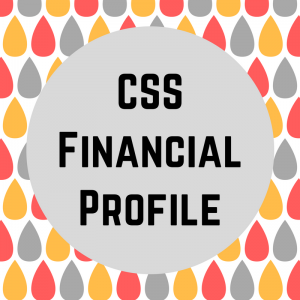 """CSS Financial Profile"" text against water drops design background."