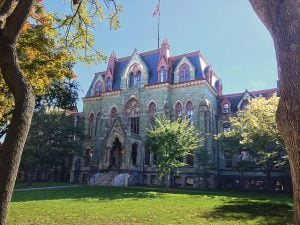 College Hall at the University of Pennsylvania campus.